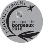 Medaille Argent BORDEAUX 2016